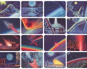 Man in Space, Part I. Drawings by A. Leonov, A. Sokolov. Complete Set of 16 Vintage Postcards in original cover -- 1965