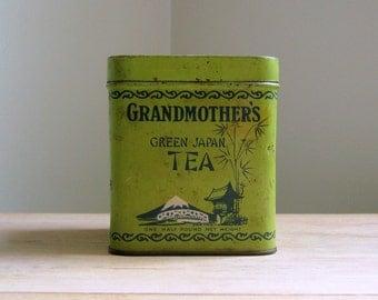Vintage Grandmothers Tea Tin Canister