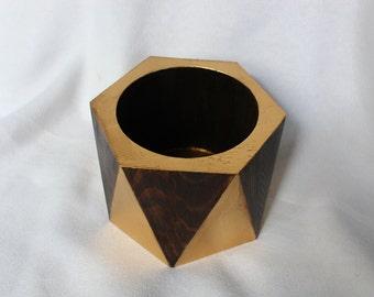 Modern Hexagonal Wooden Pencil Holder