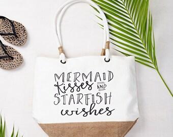 Mermaid Kisses Beach Bag