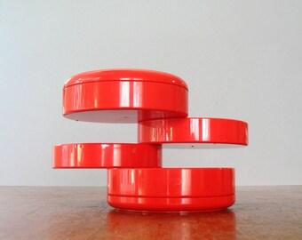 Vintage Mod Red Plastic InterDesign Organizer - Pirovano Design