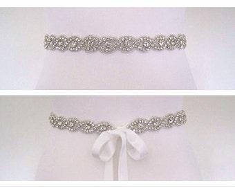 Crystal bridal sash belt wedding belt sash