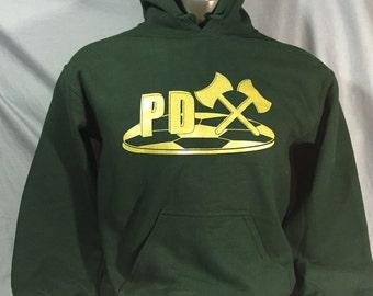 PDX, Timbers, Thorns, Futbol, Soccer, Timbers Army,  Portland, Oregon, Sports, Sweatshirt, Hoodie,