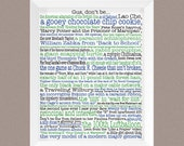 """Psych; Psych Poster; Psych TV show; instant download; Complete list of the """"Gus, don't be a"""" phrases from TV show Psych; Psych fan gift"""