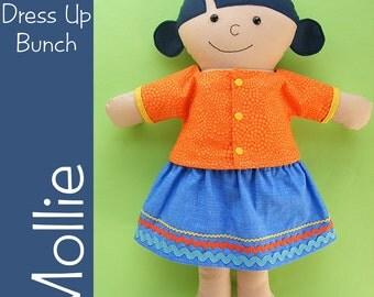 Mollie - a Dress Up Bunch Rag Doll Pattern - Digital PDF Pattern