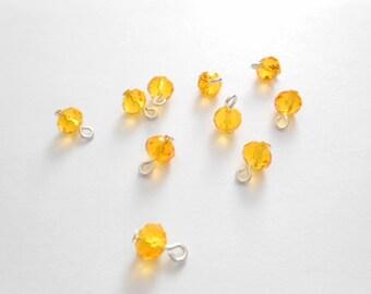 Yellow/Orange Rondelle Dangle Beads