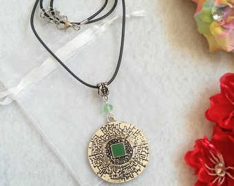 Labyrinth Pendant Necklace