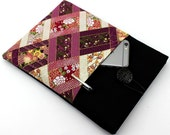 Gift For Mom, Kindle Oasis Sleeves, Unique iPad Cover, Japanese Kimono Cotton Fabric Chrysanthemum Purple