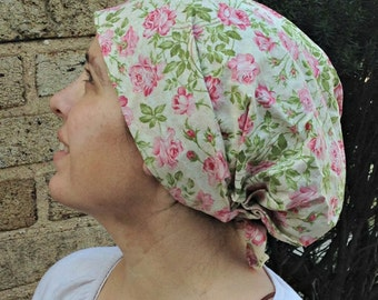 Pink and Green Floral Cotton Snood