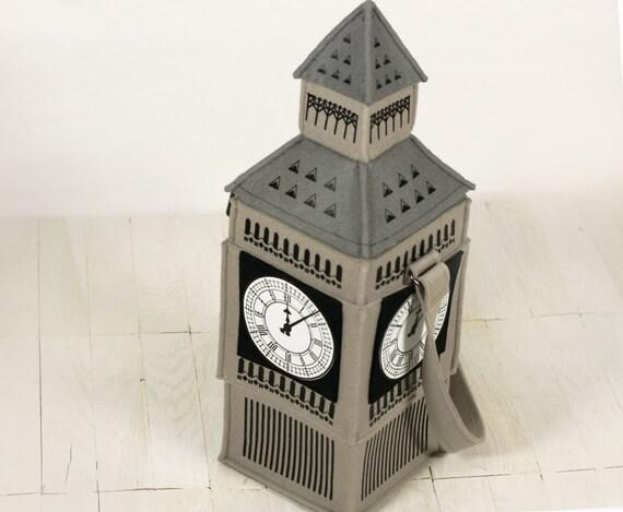 Big Ben Tower Felt Bag Big Ben Purse