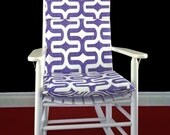 Rocking Chair Cushion Cover - Purple Embrace