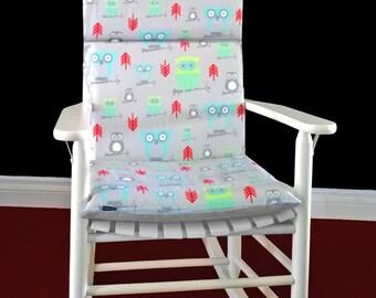 Rocking Chair Cushion -  Hooty Owl Twill Harmony