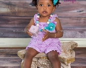 Baby Girl Clothes - Baby Rompers - Vintage Clothing - Light Purple Dress - Purple Birthday. 1st Birthday Outfit - Cake Smash Photo Outfit