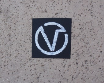 The Virus Logo Sew On Distressed Patch