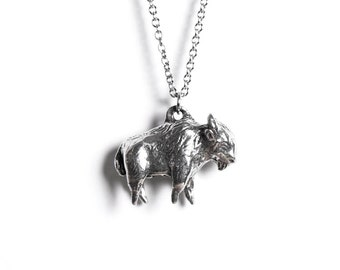 Bison, Buffalo Necklace, Animal Totem, Bison Necklace, Badlands, National Park, Yosemite, Courage, South Dakota, Buffalo Totem