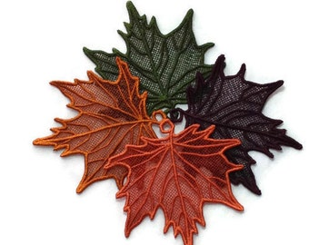 1 Lace leaf, Perfect for Wedding Favors, Bookmark or  Thoughtful gift.