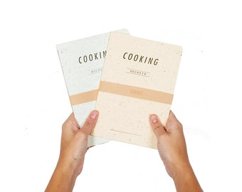 COOKING secrets  lot of 2 - letterpress printed recipes notebook - COOK5008LT