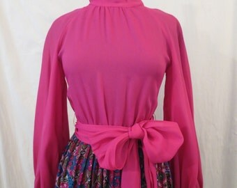 FRANK USHER vintage maxi dress gown - boho peasant gypsy glamour - sz XS