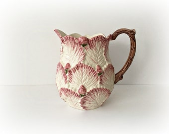 Strawberry Leaf Pitcher Ceramic Water Pitcher