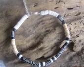 Tribal bone anklet, hawaiian jewelry, tropical jewelry, tribal jewelry, seashell jewelry, ocean shell jewelry