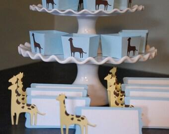 Giraffe Package, Candy Cups Place Cards, Giraffe Food Labels, Giraffe Place Cards, Giraffe Baby Shower,