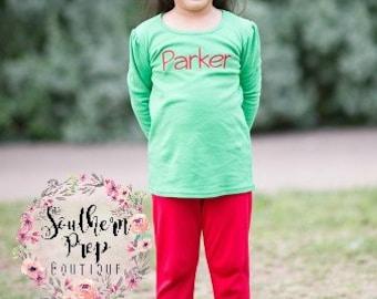 Girl's Ruffle Pants - RED Ruffle pants - girl's holiday pants - Christmas outfit - fall icings - Girl's pants