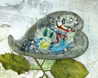 Trinket Dish, Ceramic bowl, Decorative Pottery, Handmade Trinket Dish,decorative ceramic,  # 71