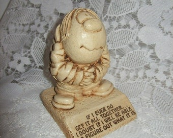 Vintage 1970s Collectible Figurine 'If I Ever Do Get It All Together' by Paula Only 5 USD
