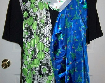 Vintage Ladies Long & Square Holiday Scarves ALL 3 for 5 USD