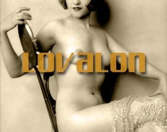 MATURE...1920's Sexy Nude... Instant Digital Download... Vintage Nude Erotic Photo