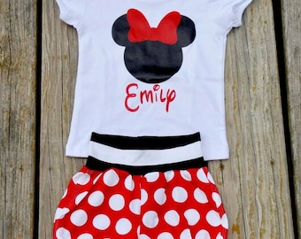 Minnie Mouse Shirt - Custom Personalized Minnie Mouse Shirt - Girls Minnie Shirt Baby Girl -  Disney Shirt - Disney Vacation 12m to 6