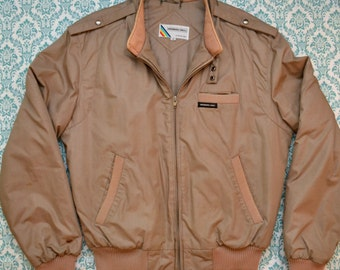 Vintage 80s MEMBERS ONLY Tan Brown Jacket Coat