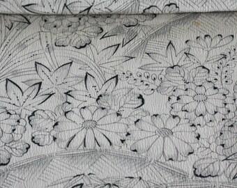 Kimono Tsumugi Silk, Kimono Fabric, Japanese  Fabric, Traditional Japanese Fabric, Floral Fabric