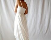 Wedding dress, Boho wedding dress, bohemian dress, hippie wedding dress, alternative wedding dress, Silk wedding dress, Fairy wedding dress