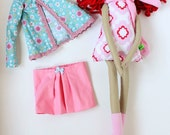 New '''' , Abby , soft doll, handmade  rag doll, wearing  beret ,scarf,skirt and socks ,  ready to ship,stuffed doll
