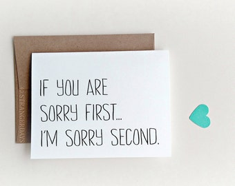 Funny Apology Card, I'm Sorry Card, Funny Card, Funny Sorry