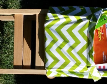 Chair Pockets //  Teacher Classroom Organization // Seat Sacks // Green Chevron // 14 inch Deluxe // End of Year SALE // CoffeeKidsNDolls