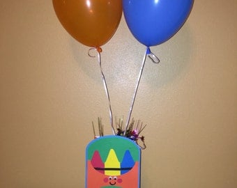Crayon Theme Balloon Party Centerpiece