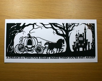 Cinderella's Dream Signed Papercut Print