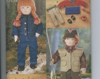 "Vogue Craft 9833 18"" Doll Clothes Pattern OOP Uncut American Girl"