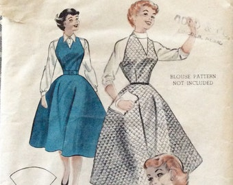 "Vintage 1950s Butterick Misses' Dress Jumper Pattern 6589 Size 14 (32"" Bust)"