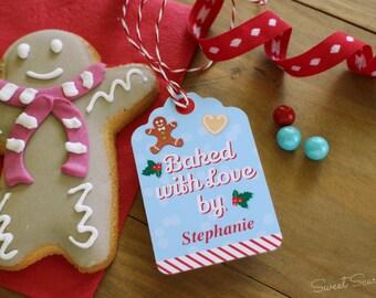 CHRISTMAS Cookies Editable Swing Tag for gifting - Printable Files - Print Your Own - Christmas Cookies - Cookie Exchange