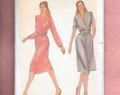 Vintage 1970's Butterick 3656 Misses' Dress With A Cross Over V Neckline, Self Fabric Obi Belt, And A Line Skirt, Size 16, 18, 20. Uncut