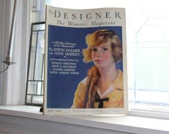 1924 Magazine The Designer Vintage Art Deco Fashion May Issue