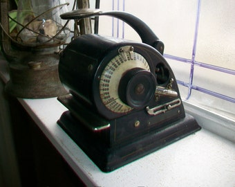 Protectograph Antique Check Writer Machine Industrial Office Decor