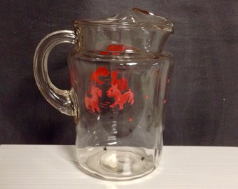 Pitcher - Glass Pitcher - Federal Glass Scottish Terrier Pitcher
