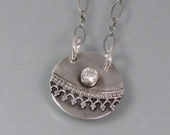 Semper Fidelis hidden message necklace - Always faithful secret message locket necklace - Latin love quote necklace - love poesy necklace
