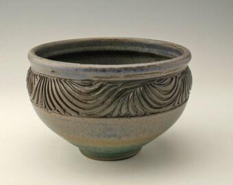 ceramic bowl with swirls, pottery bowl, serving bowl, stoneware bowl, small bowl, snack bowl, candydish, Shikha, potterybyshikha