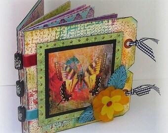 Butterfly Mini Scrapbook, Smash Book, Instagram, Photo Album
