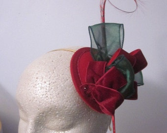 Poppy Red Fascinator
